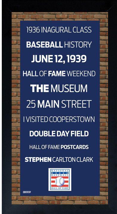 Baseball Hall of Fame Logo Subway Sign Wall Art 10x20 Framed Photo