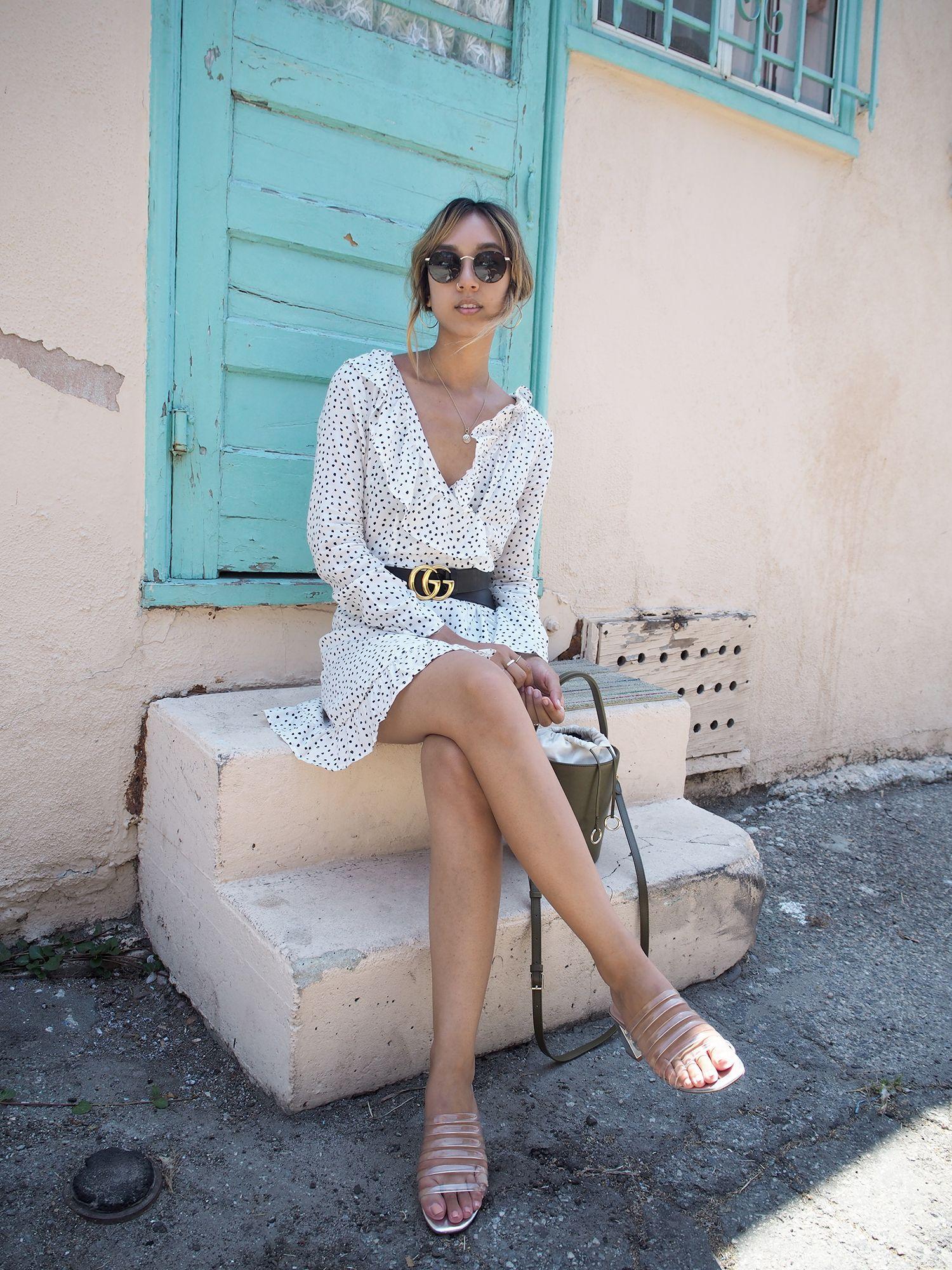 612ef18c83 Unconscious Style - Verge Girl Polka Dot Ruffle Dress | Unconscious ...