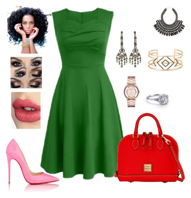 The Keynote Speaker Look by stylestoring on Polyvore featuring polyvore, fashion, style, Christian Louboutin, Dooney & Bourke, Marc by Marc Jacobs, H&M, Stella & Dot, Charlotte Tilbury, clothing and speaker