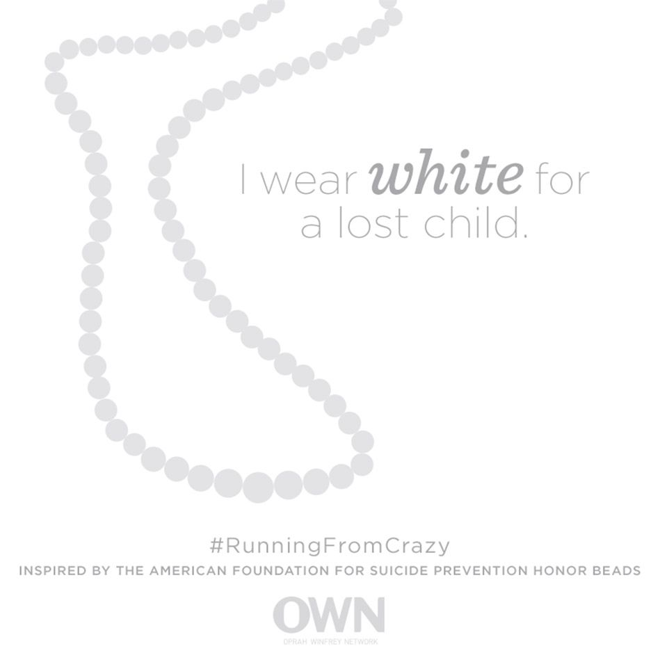 I wear white for a lost child. — Out of the Darkness Overnight Walk