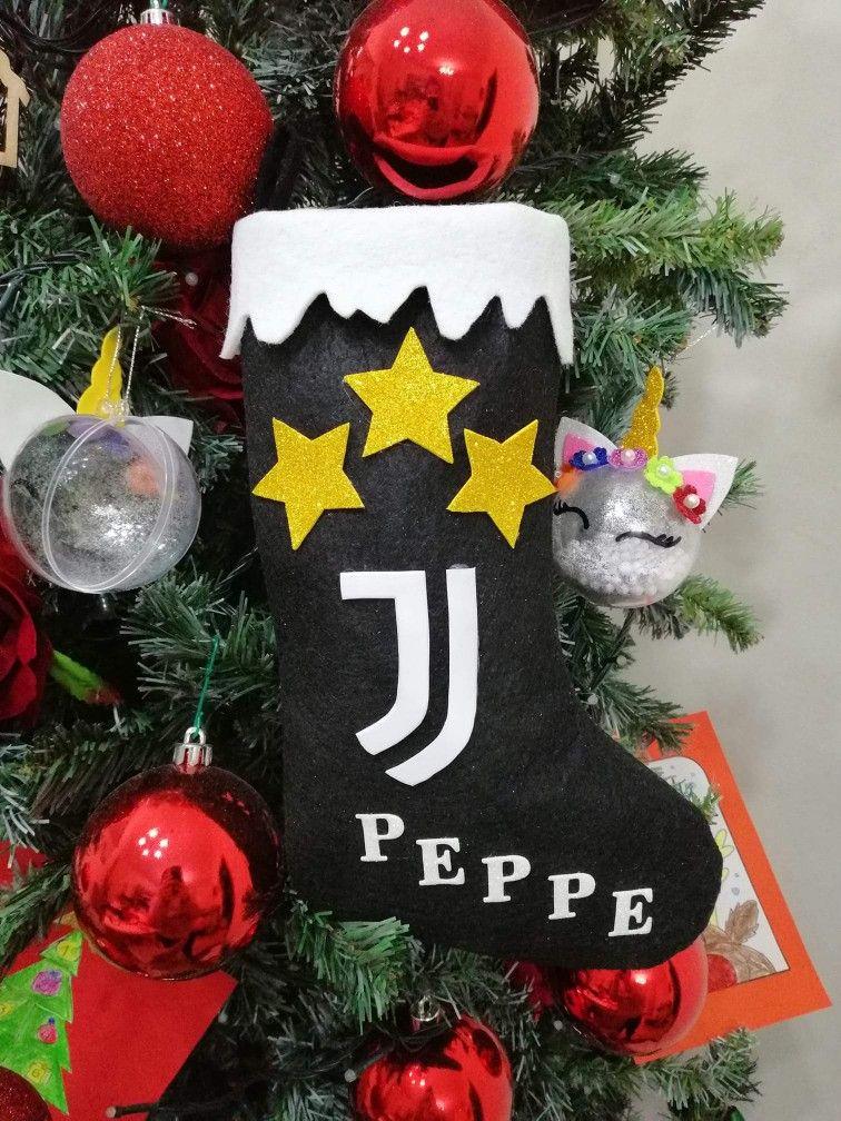 Albero Di Natale Juventus.Calza Della Befana Juve Calza Di Natale Scatoline Per Bomboniere Calze Della Befana