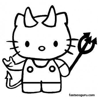 hello kitty halloween printable coloring pages printable coloring