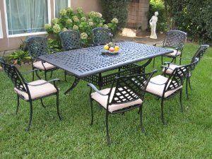 Amazon Com Outdoor Cast Aluminum Patio Furniture 9 Piece 400 x 300