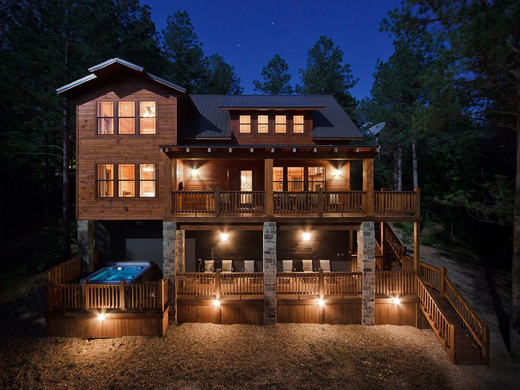 oklahoma broken mountain lodging shot and bear want intimacy honeymoon offer your bow or you at our pm the screen cabins privacy for getaway quality romantic