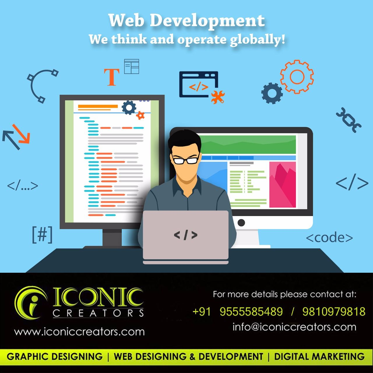 As A Top Web Design And Development Company Iconic Creators Is Proud To Offer Complete W Software Development Web Development Design Internet Marketing Agency
