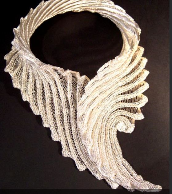 Knitted wire by Rachel Reilly; Other examples have beautiful use of ...