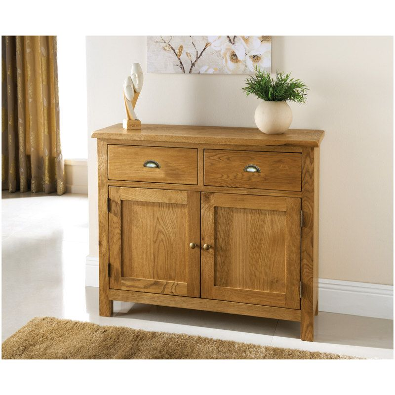 Wiltshire 2 Door Drawer Oak Sideboard Lounge FurnitureLiving