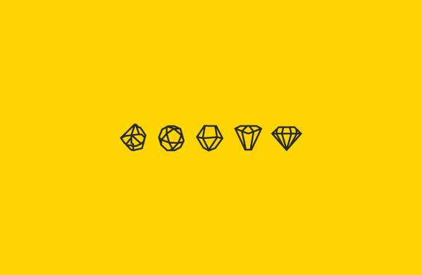 Rough Diamonds Icons   Pictogram design