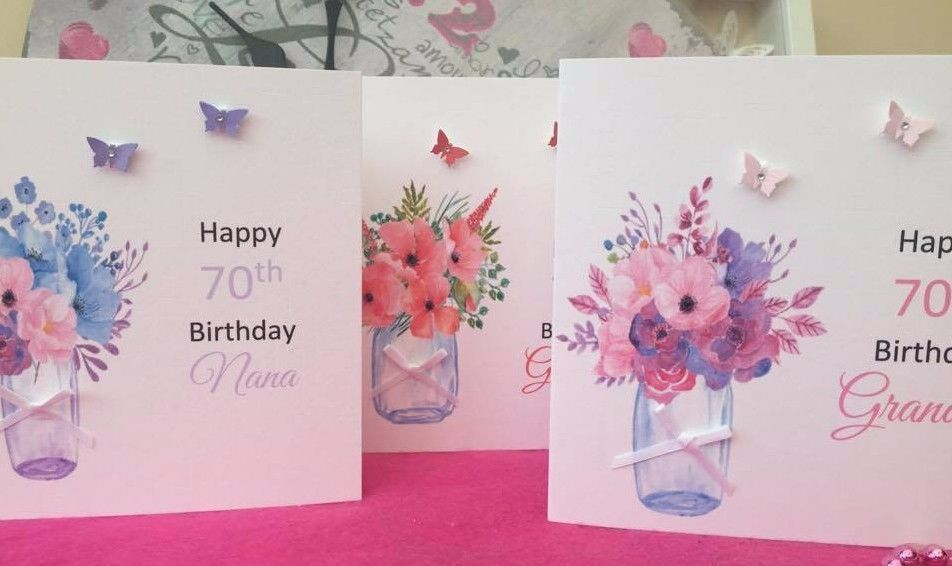 Handmade personalised birthday card mum grandma nana 40th 50th 60th handmade personalised birthday card mum grandma nana 40th 50th 60th 70th 80th bookmarktalkfo Image collections