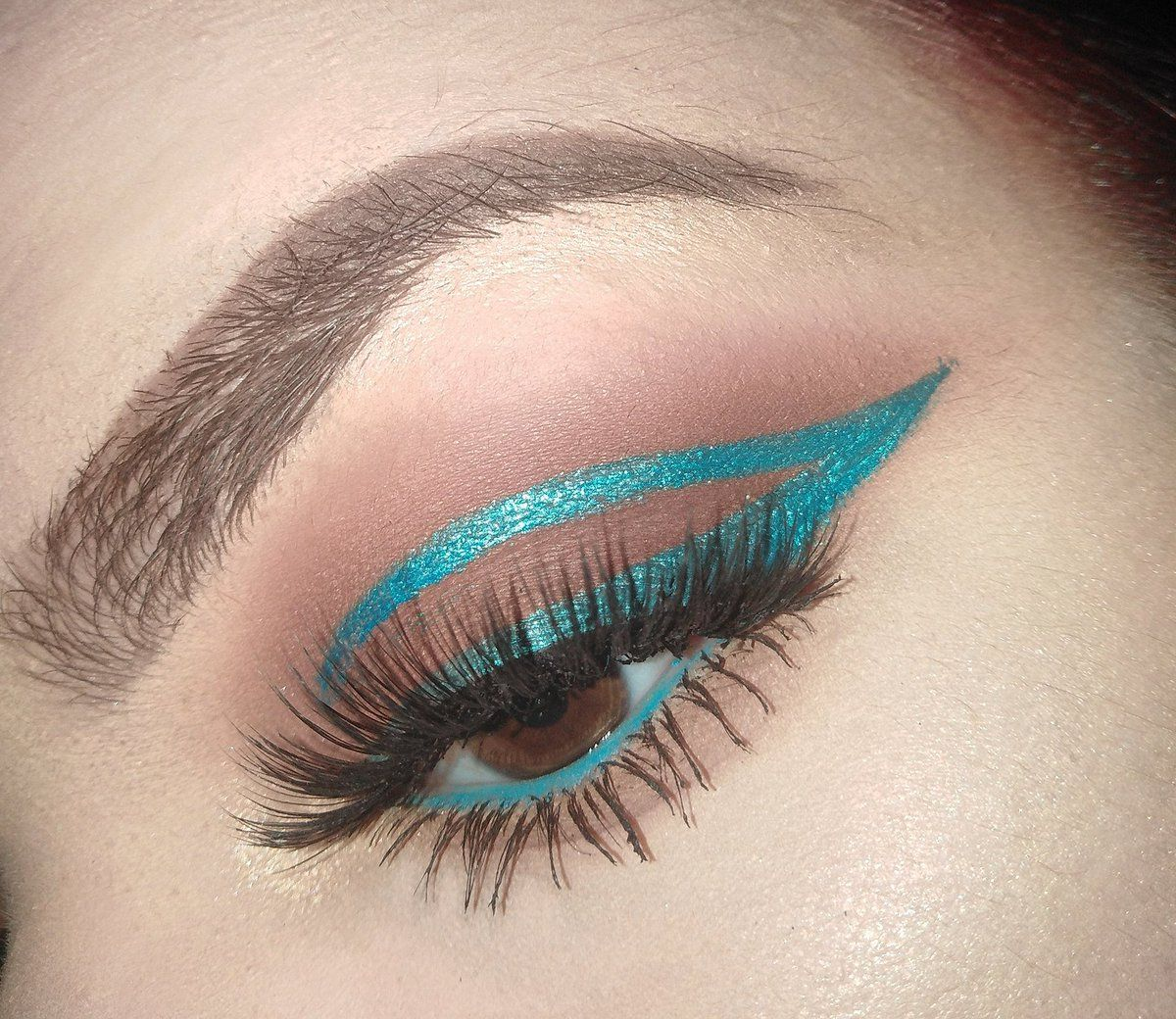 Marina Bočina on Twitter Turquoise eyeliner, Maybelline