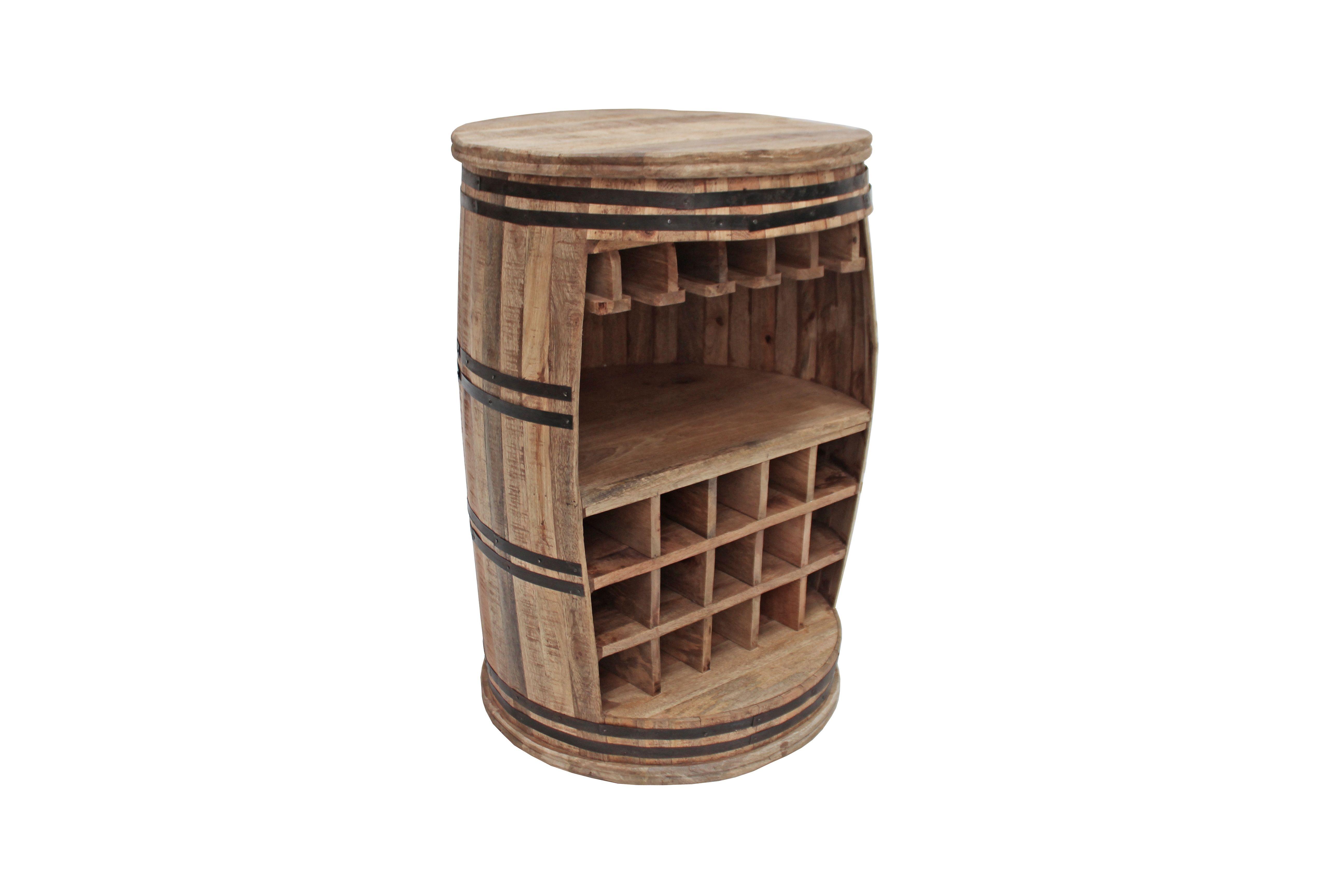 Fass-Theke Braun/ Schwarz Woody 112-00553 Holz Stylisch Jetzt ...