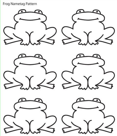 Frog+Cut+Out+Pattern Anchor charts Pinterest Frog template