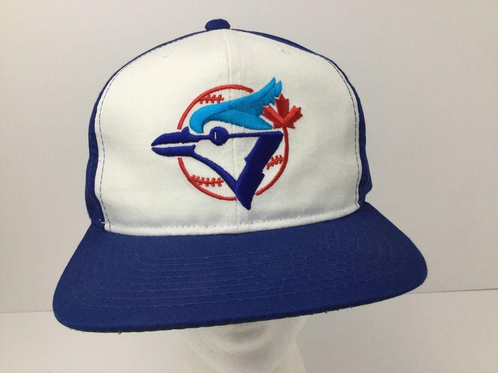 18e689908 Vintage Toronto Blue Jays Snapback Hat Cap Ted Fletcher Blue White ...