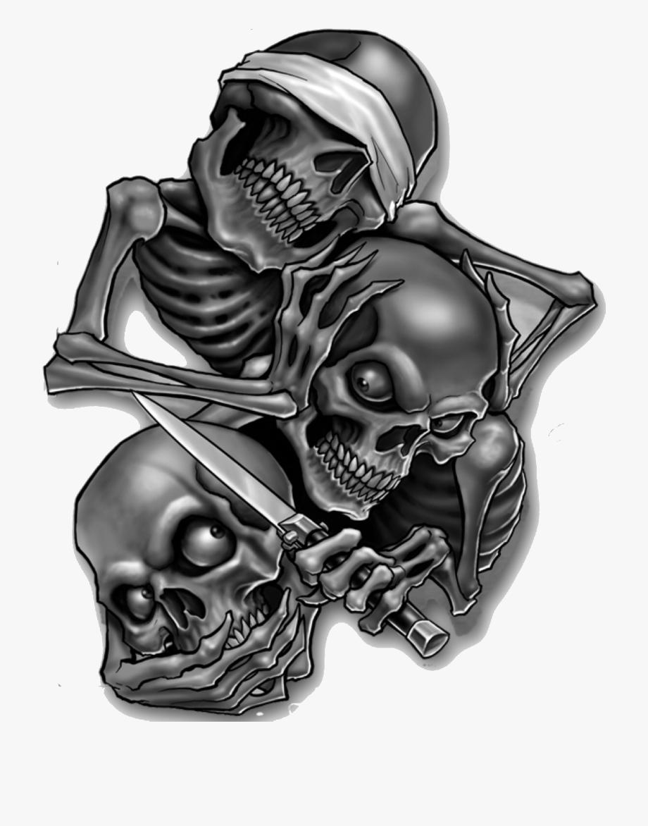 Gangster Skull Tattoo Designs Evil Skull Tattoo Evil Tattoos Skull Decal