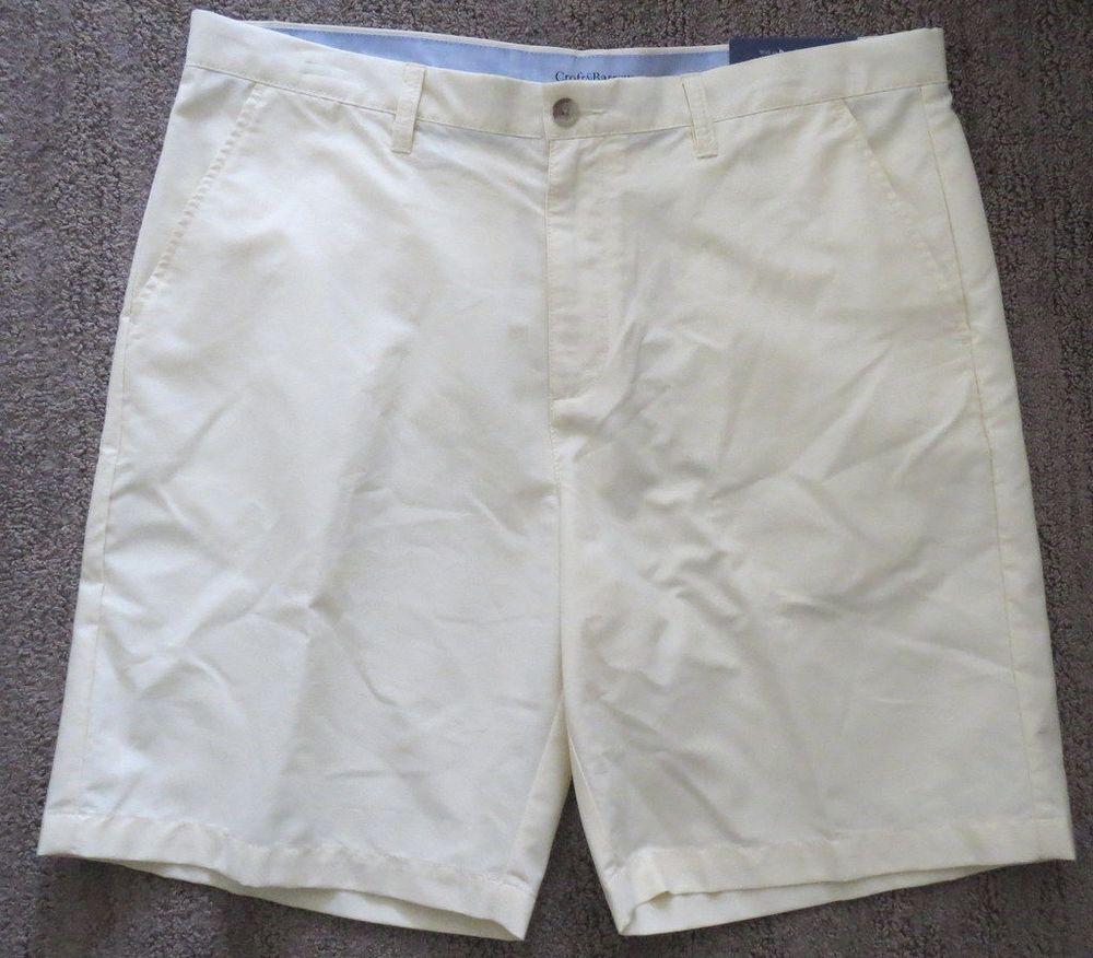 ead3c2c5909aa Men's Croft Barrow Shorts Oxford Sunshine Yellow Easy Care Sz 38 NWT NEW  #CroftBarrow #CasualShorts