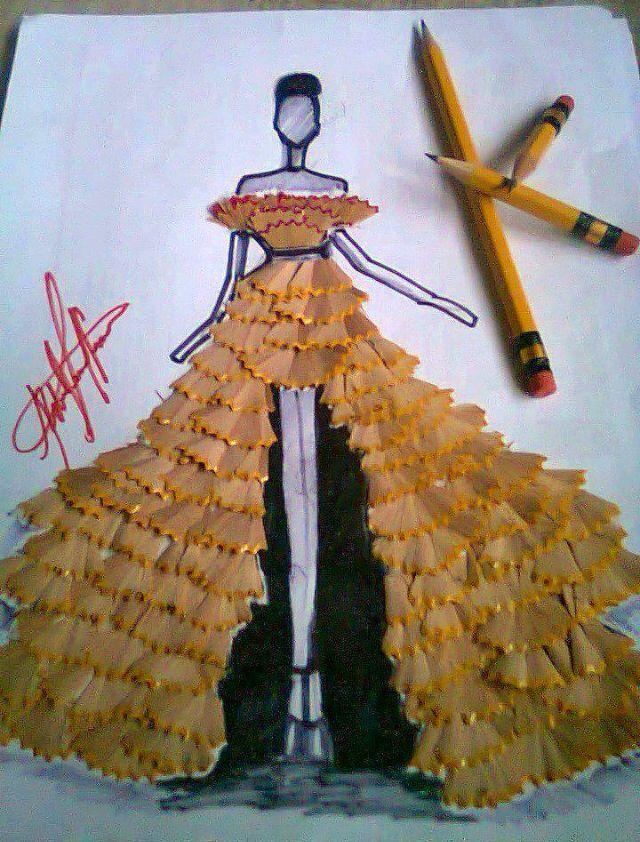 pencil shaving art