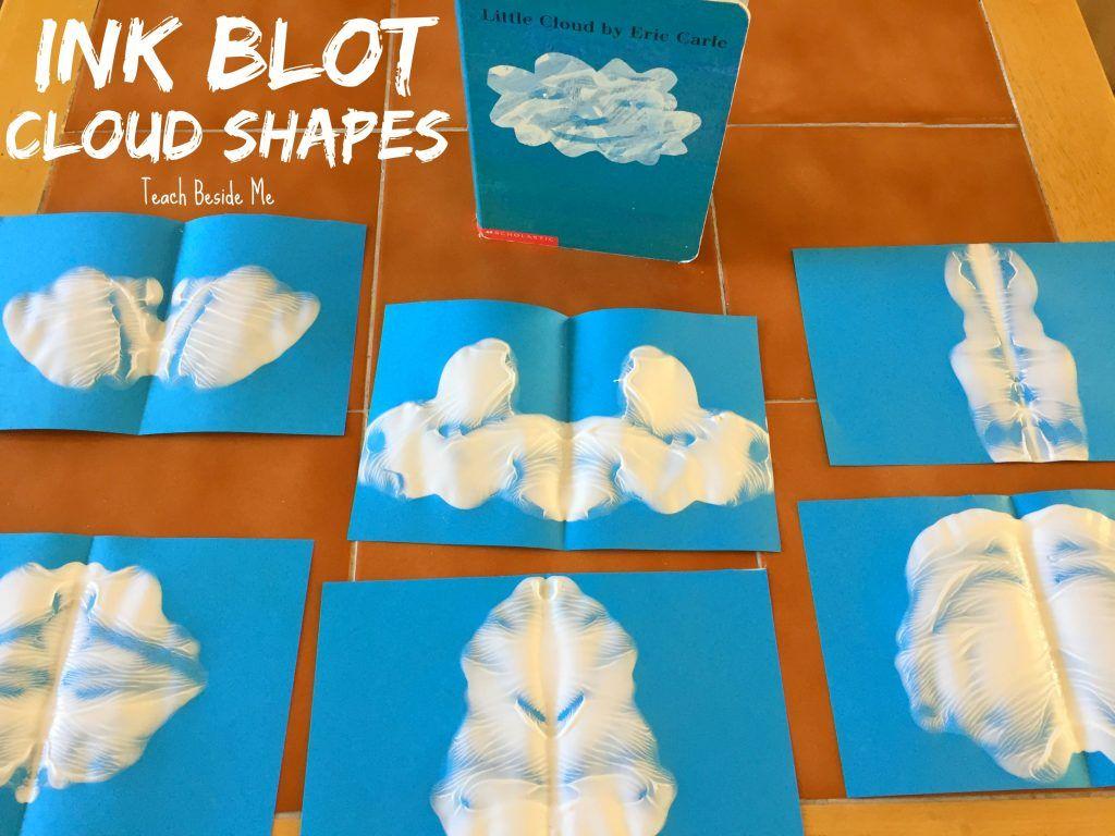 Ink Blot Cloud Shapes Craft For Little Cloud Book