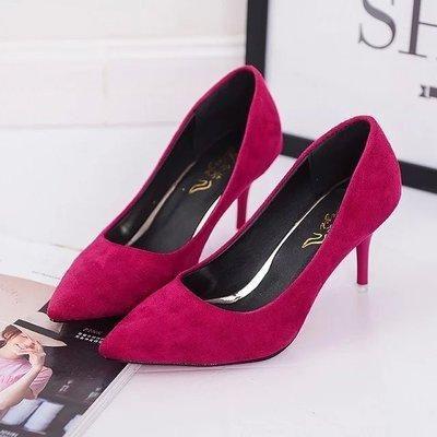a2fc2f1b3f3b Shuangxi.jsd Woman High Heels Brand Fashion Suede Shoes