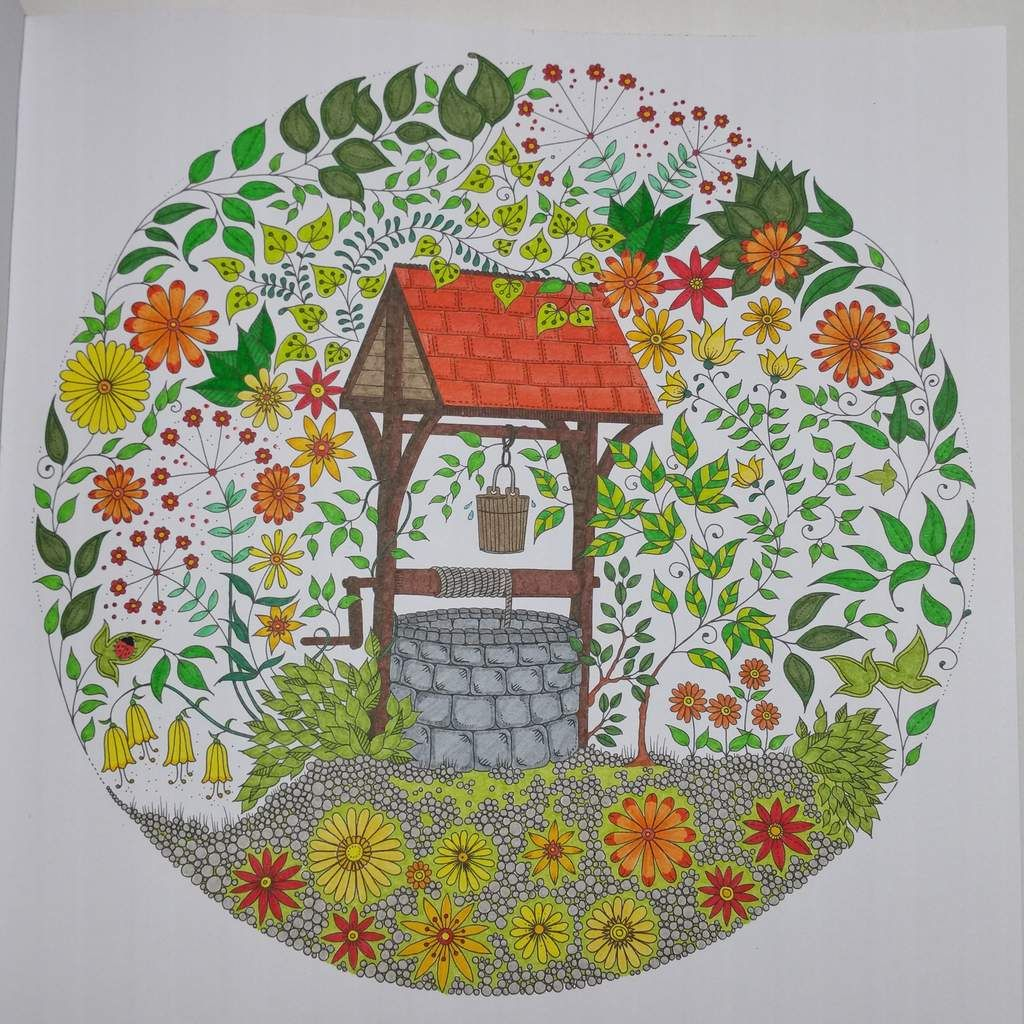 Coloriage issu du livre jardin secret johanna basford for Jardin secret des hansen