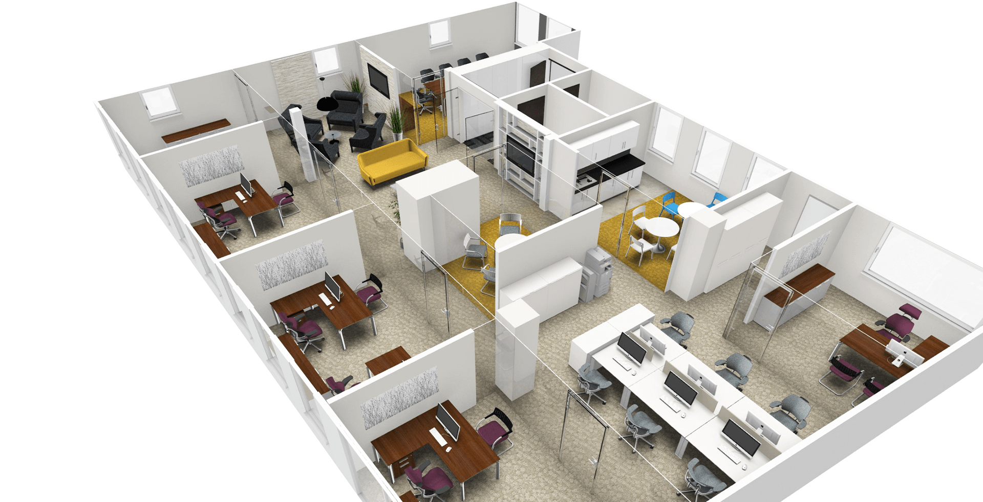 office space planning service 2d and 3d visualisuation in london