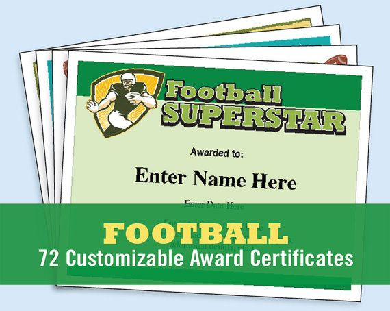 football certificates templates youth football kid certificates