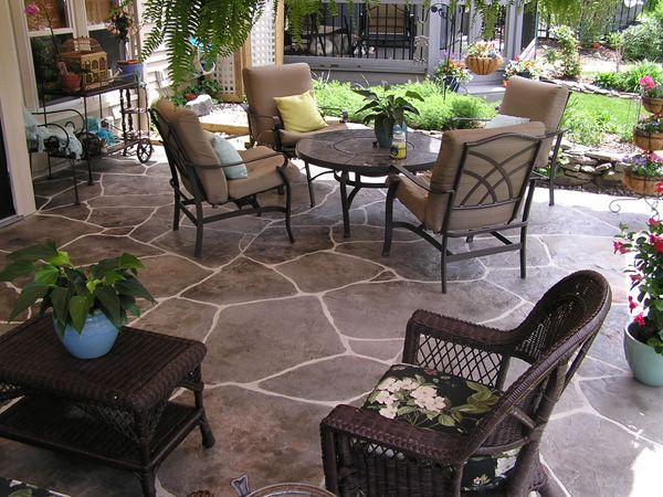 crushed stone terrace ideas patios designs how to build a stones blocks granite paver diy flagstone