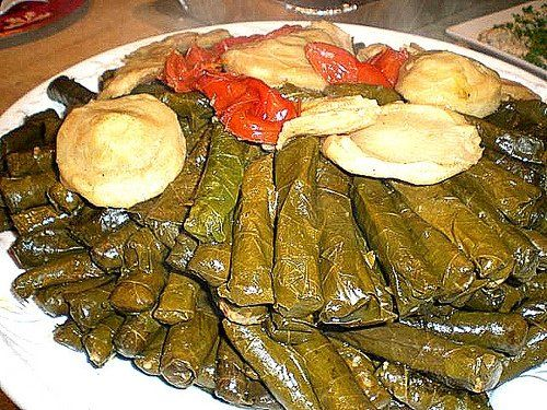 stuffed grape leaves my favorite arabic food!
