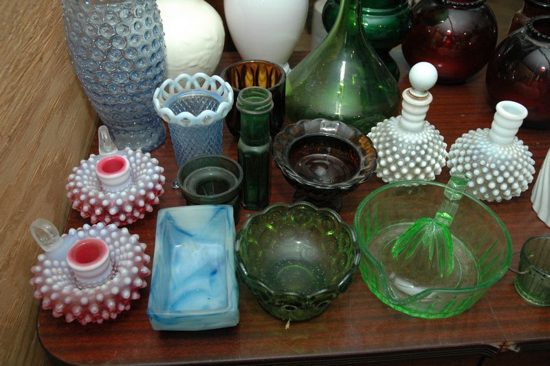 Collection of 20 Plus Glass Pieces/Pottery, 1 Rookwood 1932 (has a slight line crack in the top), Vases, Juicer, Pitcher, Etc.