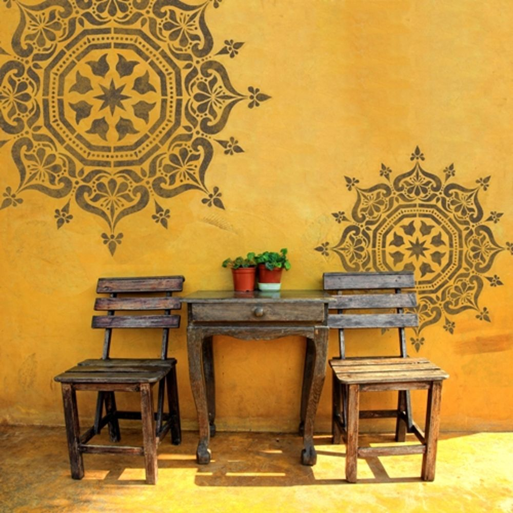 BUKHARA Home Decor DIY Stencils - Wall Stencils - Furniture Stencils ...