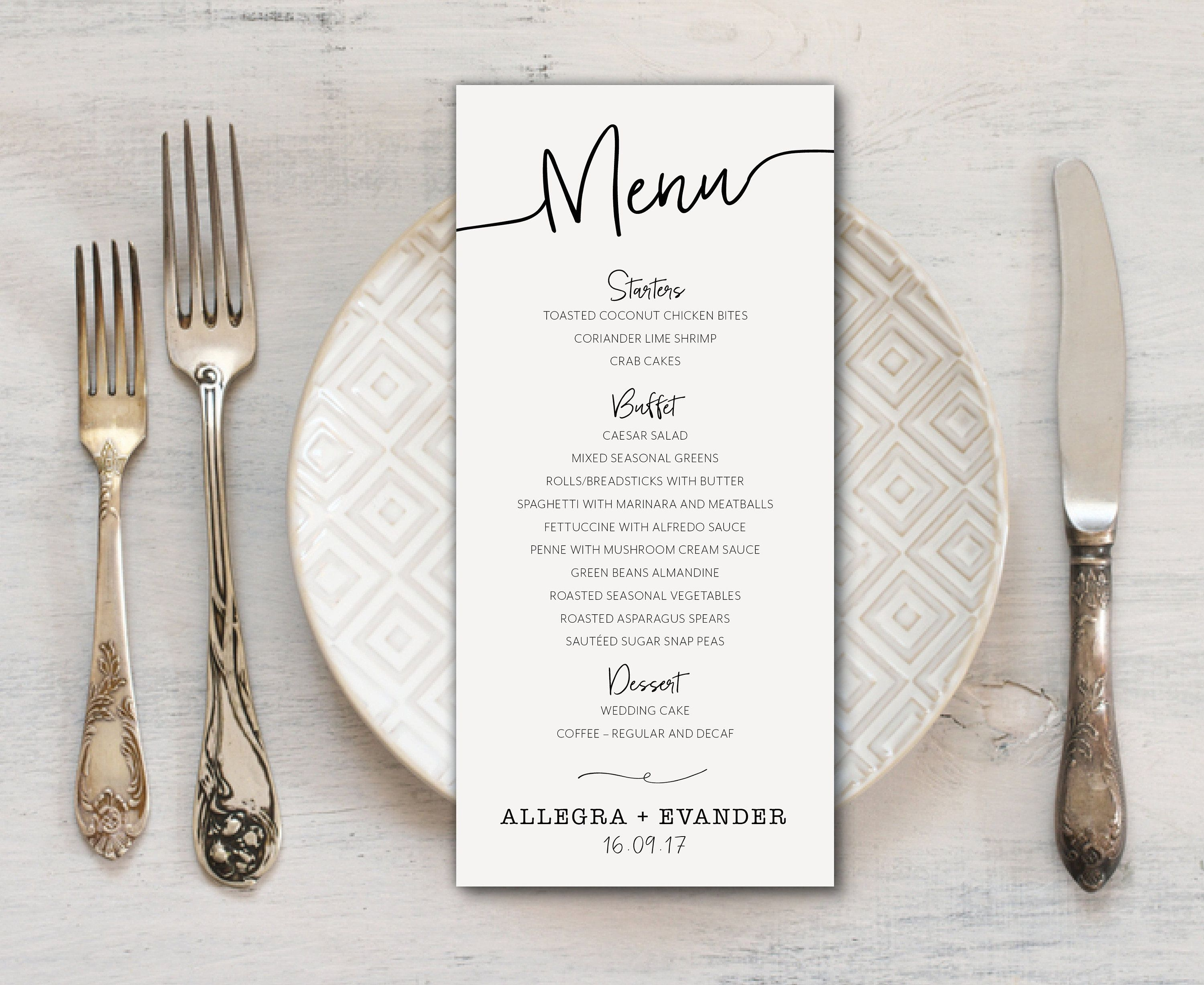 Simple Clean And Elegant Black And White Script Wedding