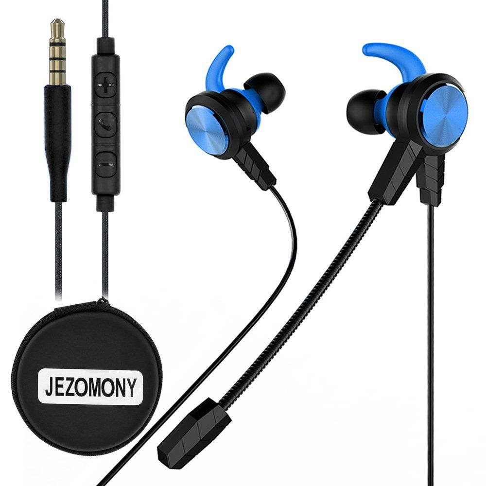 Wired Gaming Earphone With Detachable Hd Mic For Ps4 Laptop Computer Cellphonejezomony Esport Earburds With P Gaming Earphones Gaming Headset In Ear Headphones