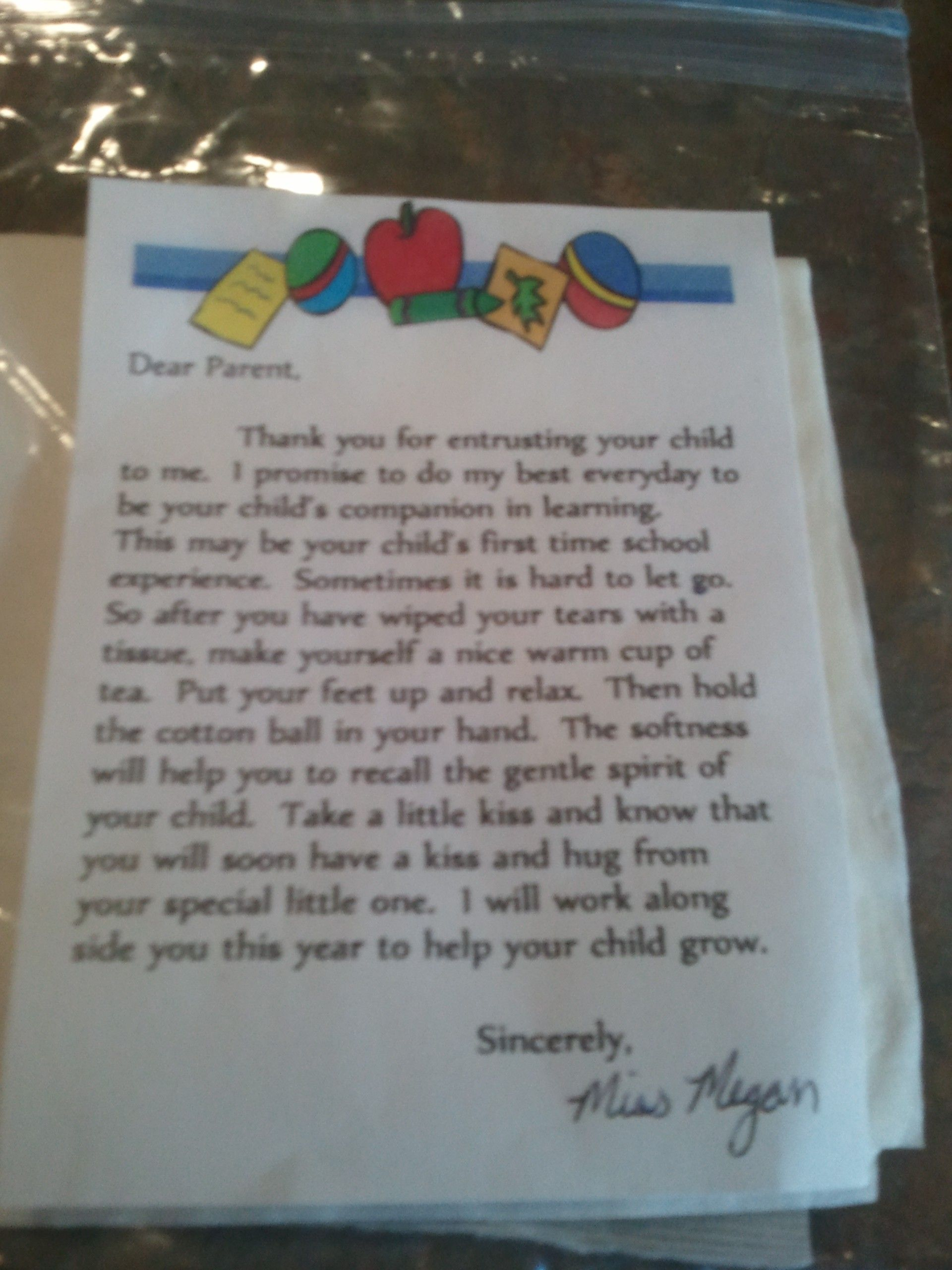 Welcome Letter To Nursery Parents
