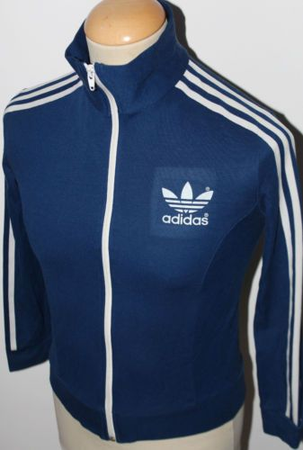 e30bebe421 VTG ADIDAS EUROPA OLDSCHOOL BLUE TRACKSUIT JACKET TOP RETRO 80s ORIGINAL  MENS XS