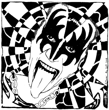 Image Result For Kiss Drawings The Rock Band Steampunk Coloring Music Coloring Gene Simmons