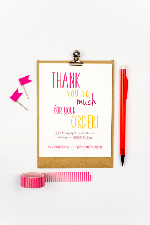 Business thank you cards instant download happily handwritten business thank you cards are quick and affordable to create with this pdf template download wajeb Images