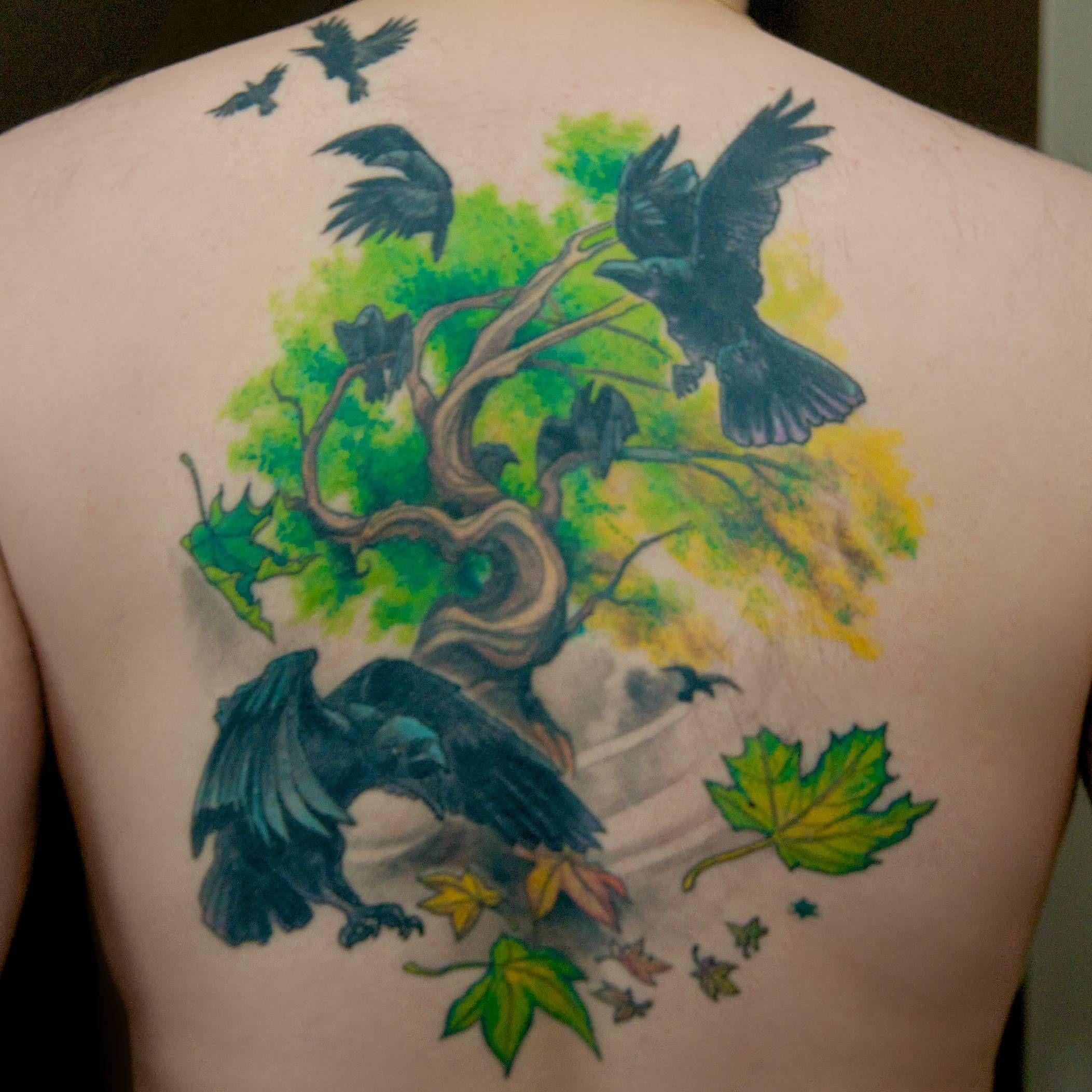 Hugin, Munin, and friends (Heather McLean, Strange World Tattoo ...
