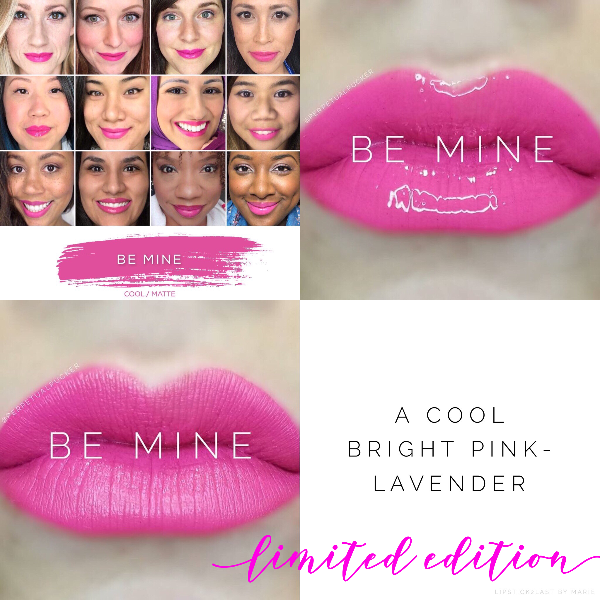 Be Mine LipSense Limited Edition collage