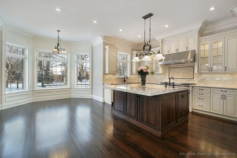 Traditional Antique White Kitchen Cabinets Kitchen Design Ideas