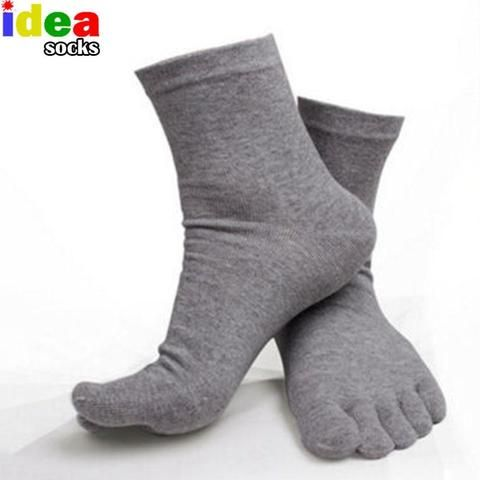 Socks Autumn Spring Elastic Male Breathable Five Toe Business Finger Accessories