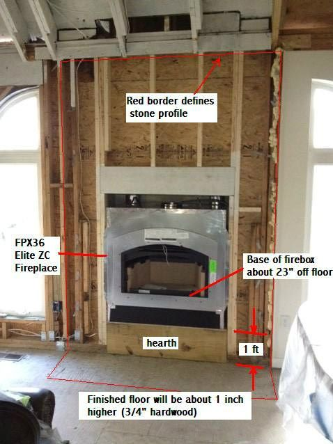 It S Not A Corner But It Shows Dimensions And Framing For A Fireplace Build A Fireplace Fireplace Dimensions Corner Gas Fireplace