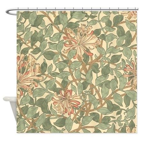 William Morris Honeysuckle Shower Curtain By Fineartdesigns