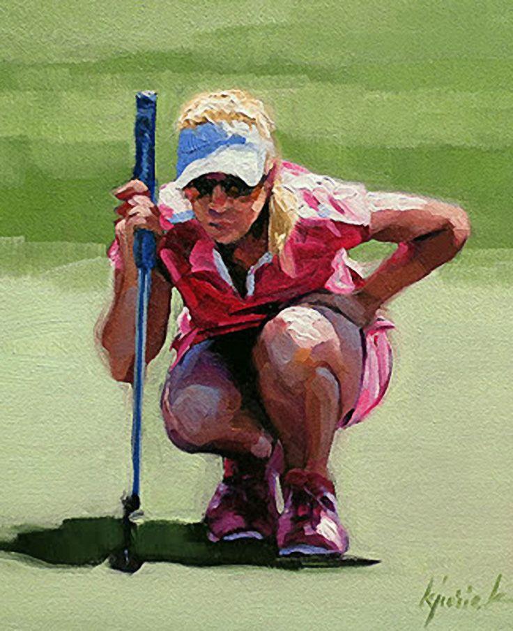 """Honing In"" Golf painting, Golf art, Original fine art"