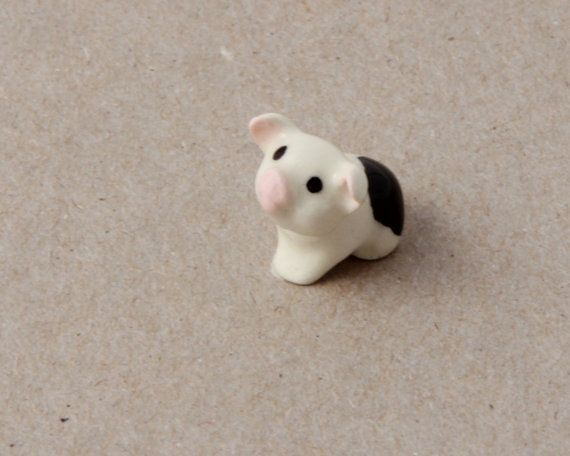 Hagen Renaker Piglet Figurine Pig Ceramic Miniature Etsy Figurines Piglet Pig
