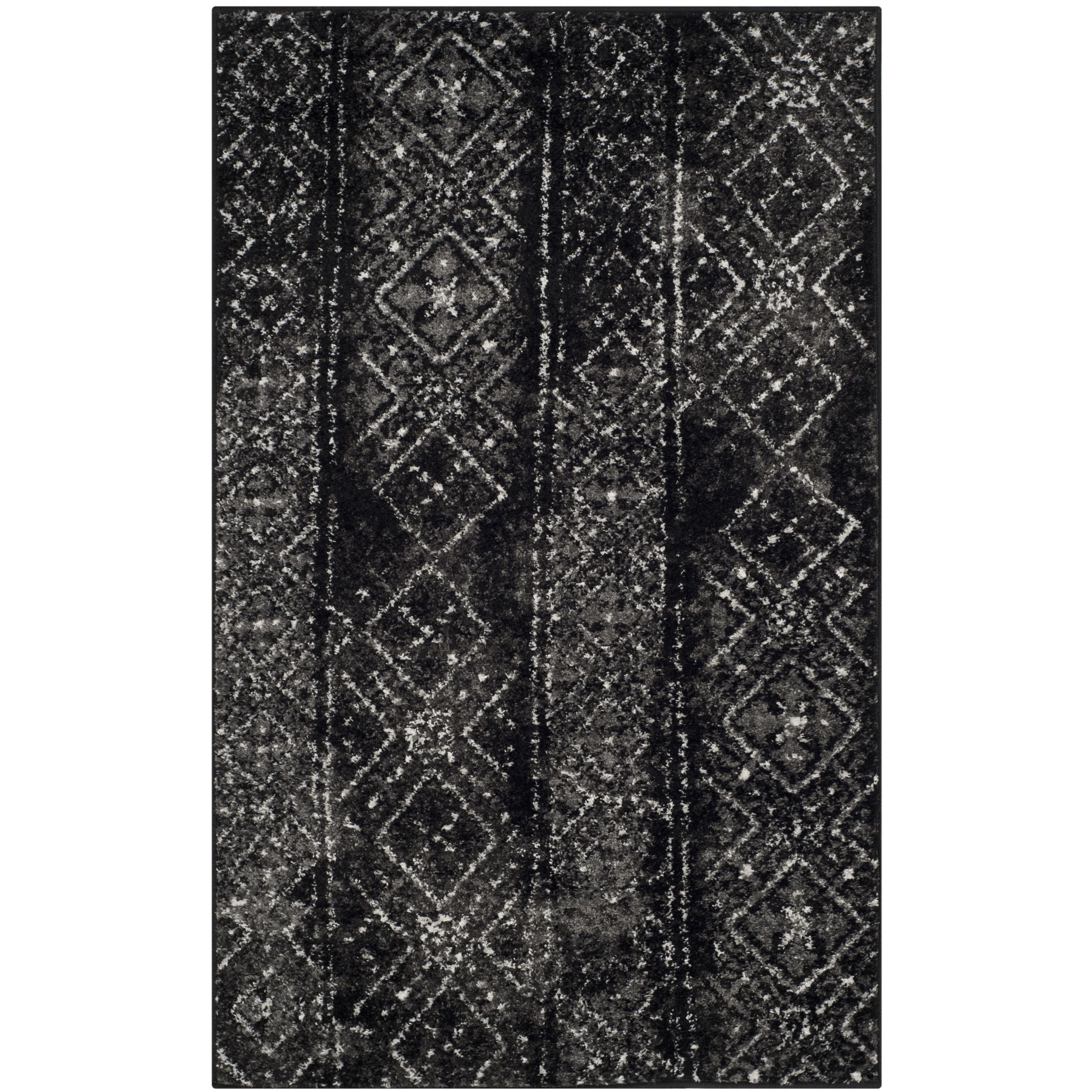 Safavieh Adirondack Black Silver Area Rug Therapy Office