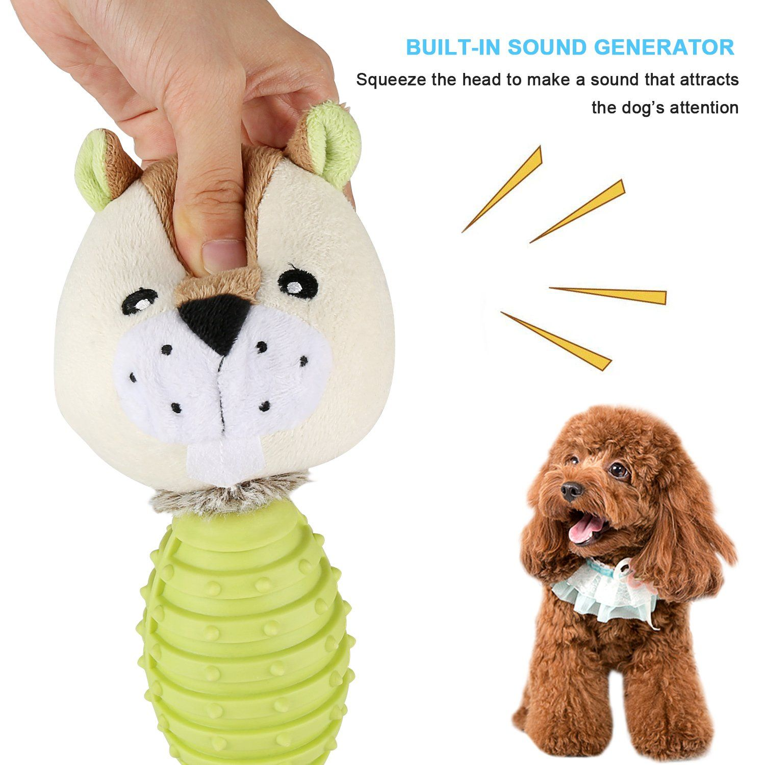 Baodatui Dog Chew Toys Effective Tooth Cleaning Click Photo To