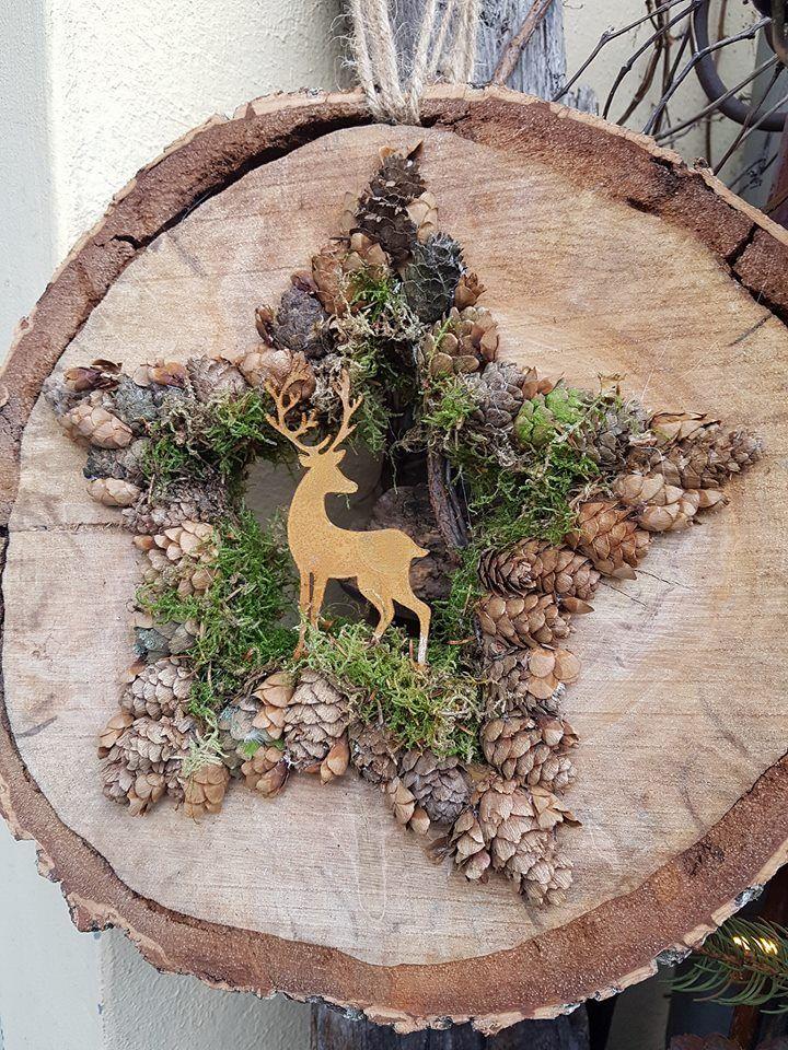 Weihnachtsdeko Holz, Kaminholz, Holzbalken, Holzscheiben, Basteln Winter,  Basteln Mit Holz, Deko Weihnachten, Schneemann, Weihnachtsmarkt