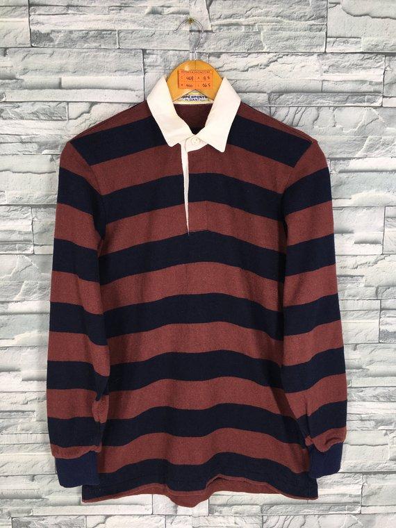 69a8d4887f3 Vintage 90'S GANT Polo Rugby Shirt Small Mens Gant Border Striped  Burgundy/Blue Gant Usa Stripes Lon