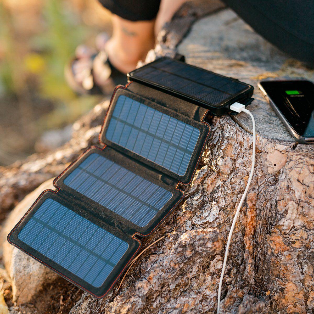 Quadrapro Solar Power Bank With Wireless Dual Usb Charging By Frog Co Solar Power Bank Solar Charger Portable Solar Power