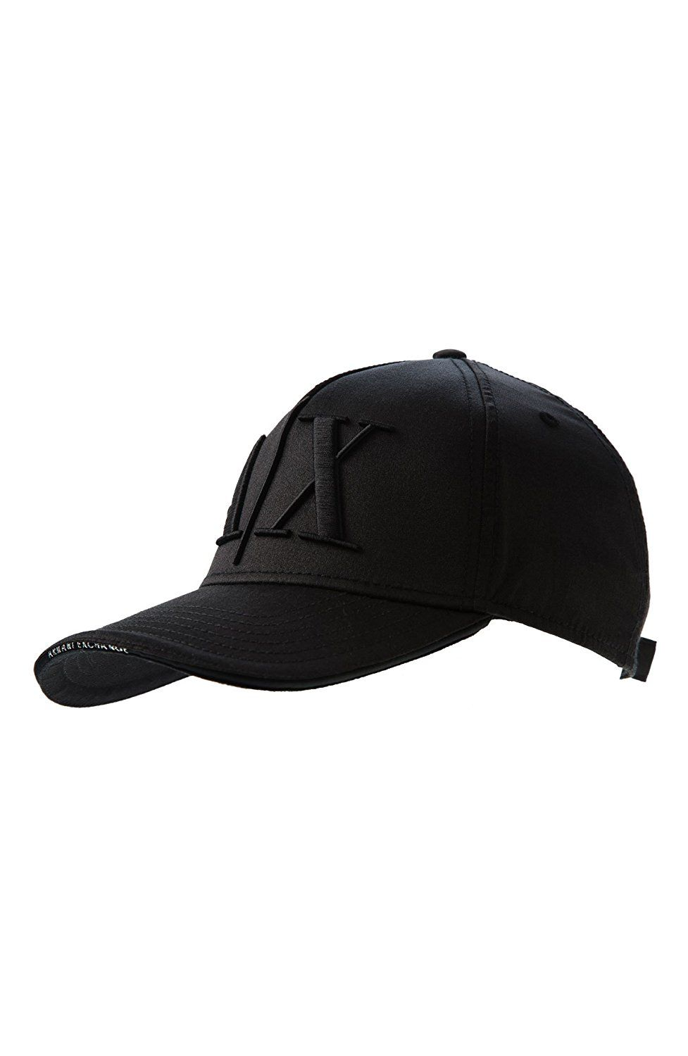8cf6feff7a9 Armani Exchange Mens Sateen Logo Baseball Hat