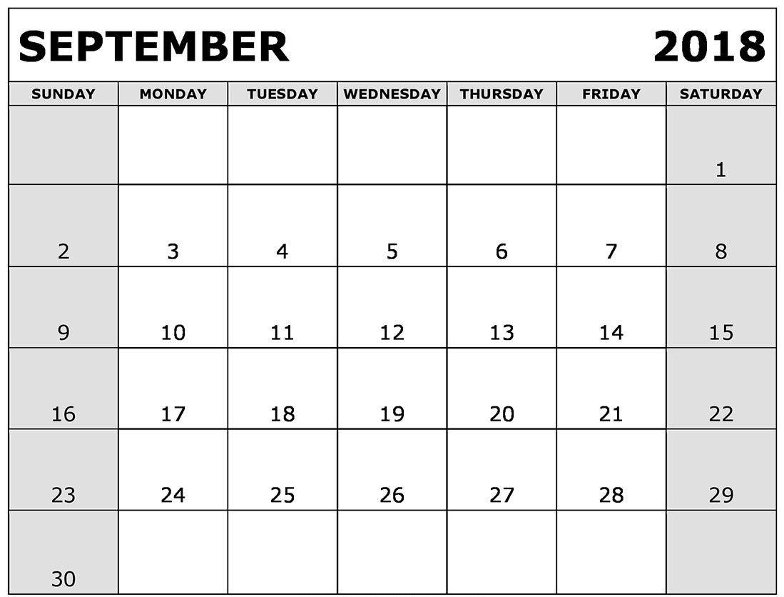 2018 September Calendar Spanish September 2018 Calendar
